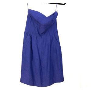 Rebecca Taylor size 6 blue sweetheart strapless